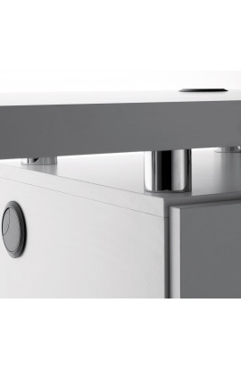 Logic Tavolo Manicure Bianco Due Mobiletti
