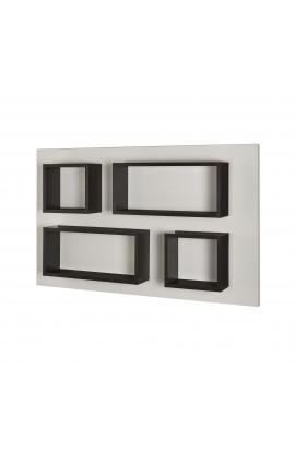 Rubik Pannello 180x110h 2 Rectangle+2 Cube Wenge