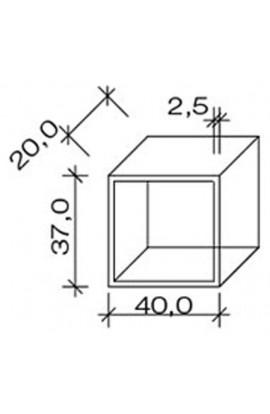 Cube 40 Bianco o Wengé