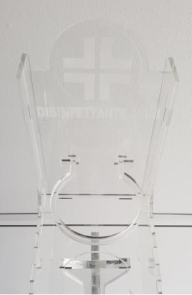 Colonna igienizzante plexiglass